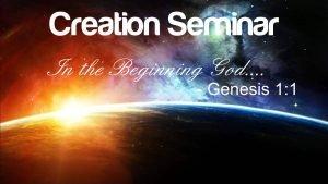 creation-seminar