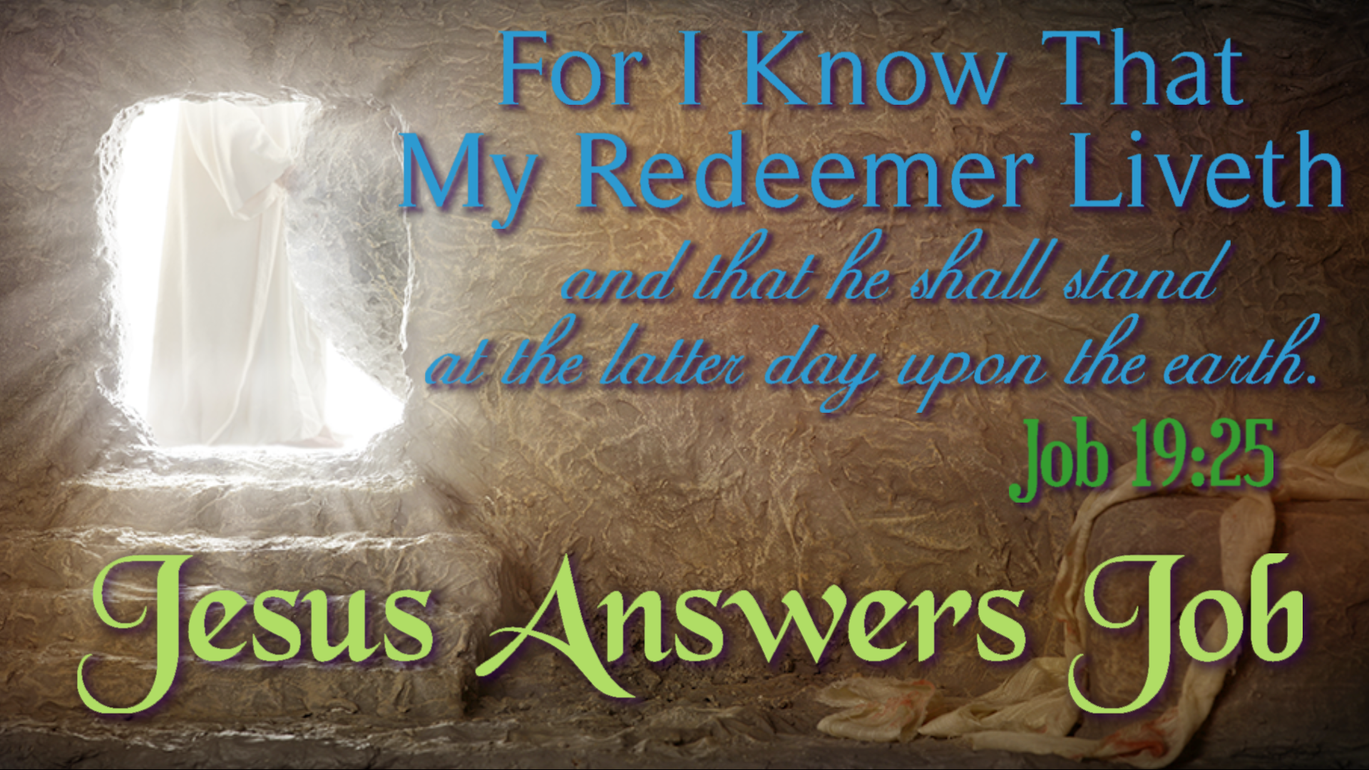Jesus Answers Job