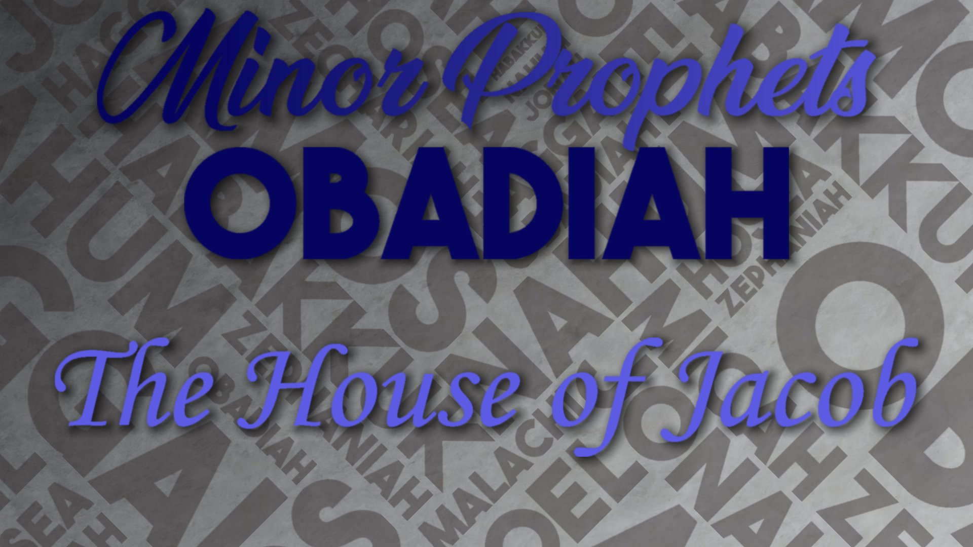 12 The House of Jacob