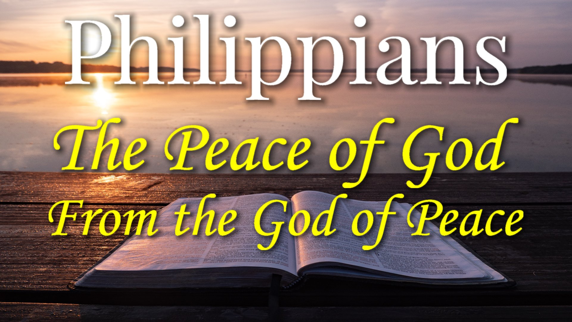 12 The Peace of God From the God of Peace
